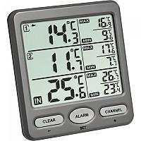 [해외]TFA DOSTMANN 30.3062.10 Trio Wireless Thermometer 4137857973 Grey