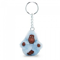 [해외]키플링 Monkey Clip XS Key Ring 10 Units Fainted Blue Fur