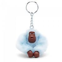 [해외]키플링 Monkey Clip S Key Ring 10 Units Fainted Blue Fur
