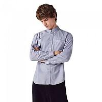 [해외]라코스테 Regular Fit Cotton Poplin Long Sleeve Shirt White / Navy