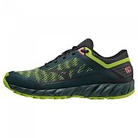 [해외]미즈노 Wave Ibuki 3 Trail Running Shoes 4138140732 Green Gables / Obsidian / Green