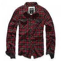 [해외]BRANDIT Check Duncan Long Sleeve Shirt 9138023271 Red / Brown