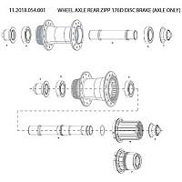 [해외]스램 Rear Wheel Axle 176D Disc Brake 1137670883 Black