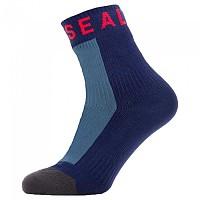 [해외]SEALSKINZ Warm Weather Mid WP Socks Refurbished 1138304601 Blue / Grey / Red