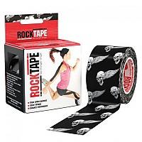[해외]ROCK TAPE Standard 5cmx5m Kinesiology Tape 3138294944 Cadavera White / Black