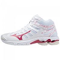 [해외]미즈노 Wave Voltage Mid Shoes 3138140647 White / Persian Red / White Sand