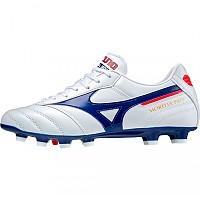 [해외]미즈노 Morelia II Pro MD Football Boots 3138140759 White / 280C / High Risk Red