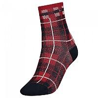 [해외]타미힐피거 Short Disruptive Check Socks Navy Red