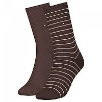 [해외]타미힐피거 Small Stripe Socks 2 Pairs Brown