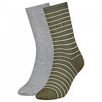 [해외]타미힐피거 Small Stripe Socks 2 Pairs Olive