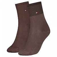 [해외]타미힐피거 Tencel Short Colorblock Socks 2 Pairs Brown