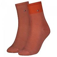[해외]타미힐피거 Tencel Short Colorblock Socks 2 Pairs Mineralize Orange