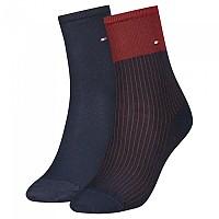 [해외]타미힐피거 Tencel Short Colorblock Socks 2 Pairs Navy