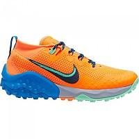 [해외]나이키 Wildhorse 7 Trail Running Shoes 4138128555 Total Orange / Obsidian / Green Glow