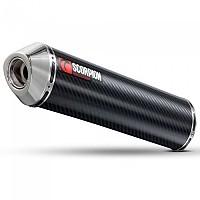 [해외]SCORPION Factory Oval Slip On Carbon Fibre/Stainless Steel Pair Varadero XL 1000 98-13 9137586659 Black