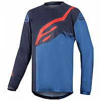 [해외]알파인스타 Racer Factory Long Sleeve T-Shirt 1136991899 Dark Navy / Mid Blue / Red