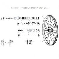 [해외]스램 Wheel Decal Kit 3Zero 27 Moto Slate Single Rim 1137670597 Slate