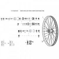 [해외]스램 Wheel Decal Kit 3Zero 27 Moto Silver Single Rim 1137670598 Silver