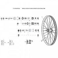 [해외]스램 Wheel Decal Kit 3Zero 29 Moto Slate Single Rim 1137670599 Slate