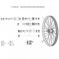 [해외]스램 Wheel Decal Kit 3Zero 29 Moto Silver Single Rim 1137670600 Silver