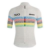 [해외]산티니 UCI 100 Champion Short Sleeve Jersey 1138193012 White