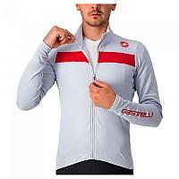 [해외]카스텔리 Puro 3 FZ Long Sleeve Jersey 1138291618 Silver Grey / Red Reflex