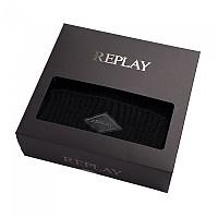 [해외]리플레이 AM8022.001.A7003 Set Of Knit Scarf Black