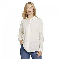 [해외]TOM TAILOR Dotted Long Sleeve Shirt Gardenia White