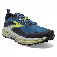 [해외]브룩스 Cascadia 16 Trail Running Shoes 4138128203 Mykonos Blue / Peacoat / Lime