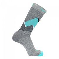 [해외]살로몬 SOCKS Outline Prism Socks 2 Pairs 4137923322 Medium Grey / Pastel Turquise