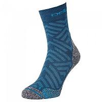 [해외]오들로 Micro Crew Active Warm Hike Graphi Socks 4138222159 Deep Dive - Stunning Blue