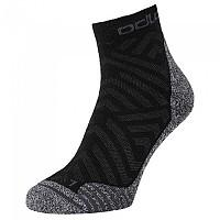 [해외]오들로 Quarter Active Warm Hike Graphic Socks 4138222208 Black - Odlo Steel Grey