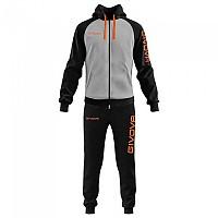 [해외]GIVOVA Super King Track Suit 3138330870 Melange Light Grey / Fluo Orange