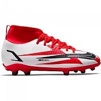[해외]나이키 Mercurial Vapor Superfly VIII Club CR7 FG/MG Football Boots 3138253324 Chile Red / Black-White-Total Orange