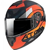 [해외]MT HELMETS Atom SV W17 Modular Helmet 9138277652 Matt Orange