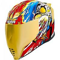 [해외]ICON Airflite Freedom Spitter Full Face Helmet 9138335798 Gold