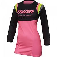 [해외]THOR Pulse Rev Long Sleeve Jersey 9138187075 Charcoal / Fluo Pink