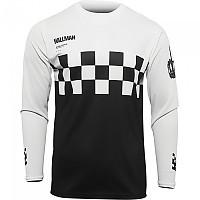 [해외]THOR Hallman Differ Cheq Long Sleeve Jersey 9138186983 Black / White
