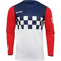 [해외]THOR Hallman Differ Cheq Long Sleeve Jersey 9138186984 White / Red / Blue