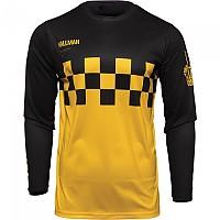 [해외]THOR Hallman Differ Cheq Long Sleeve Jersey 9138186985 Yellow / Black