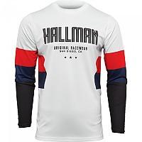 [해외]THOR Hallman Differ Draft Long Sleeve Jersey 9138186989 White / Red / Navy