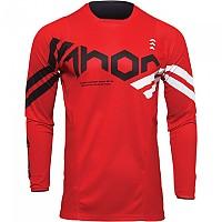 [해외]THOR Pulse Cube Long Sleeve Jersey 9138187055 Red / White