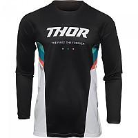 [해외]THOR Pulse React Long Sleeve Jersey 9138187071 White / Black