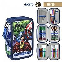 [해외]CERDA GROUP Giotto Avengers Filled Pencil Case Triple Blue