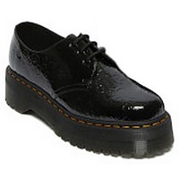 [해외]닥터마틴 1461 Quad 3-Eye Patent Lamper Leopard Embross Shoes Black
