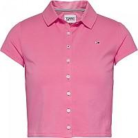 [해외]타미 진 Button Through Polo Botanical Pink