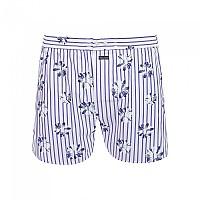 [해외]FA?ONNABLE Stripe And Daisy Print Trunk Blue / White