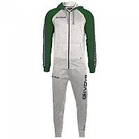[해외]GIVOVA 103 Track Suit 3138330687 Light Melange Grey / Green