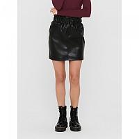 [해외]ONLY Maiya-Miri Faux Leather Skirt Black