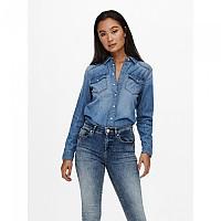 [해외]ONLY Rock IT Life Long Sleeve Shirt Medium Blue Denim